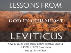 New Bible Study on Leviticus Begins Tuesday 9/18